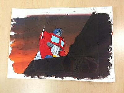 The Transformers G1 Production Cel W/ Background - Optimus Prime!