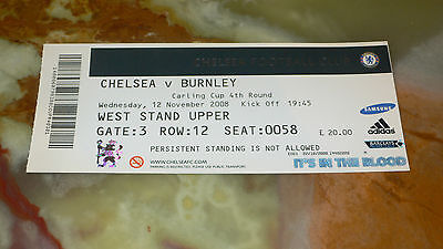 Ticket 2008/09 Carling Cup / League Cup - CHELSEA v. BURNLEY