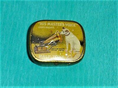 "A tin of ""His Masters Voice"" half tone gramophone needles."