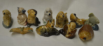 Vintage Lot of Wade England Red Rose Tea/ Wade Whimsies Figurines Assorted Lot