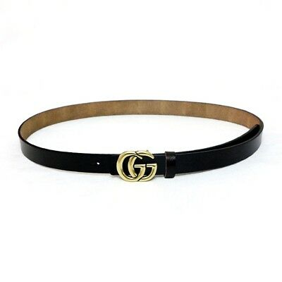 NEW Moyoto Womens Genuine Leather Thin Belts Gucci Logo Pattern For Jeans 0.9