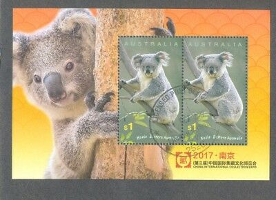Australia-Koala min sheet China Stamp show fine used cto 2017 - Sept
