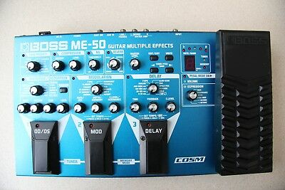 Boss ME-50 Guitar Multi Effects Processor Pedal with Original Boss Power Supply