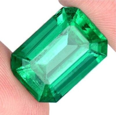 Natural Mined 4.10ct Green Emerald Colombia 9x11mm Emerald Cut AAA Gemstone