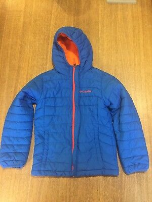 Columbia Kids Blue Powder Light Puffer Jacket Size Small Excellent Condition