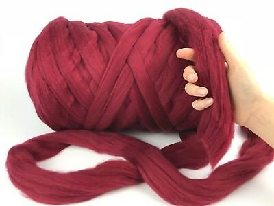 100% Chunky Merino Wool Yarn,Soft XXL Giant Arm Knitting,Felting,Roving,Spinning