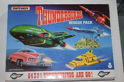 Matchbox Boxed Thunderbird 5 Vehicle Rescue Pack For Tracy Island Play Set