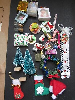 Lot Of Doll House christmas Items