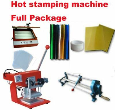 Hot foil stamping business full start up package. Heat transfer complete package