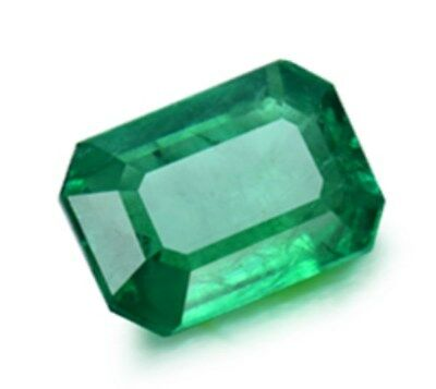 Natural Mined 2.76ct Green Emerald Colombia 10x8mm Emerald Cut AAA Gemstone