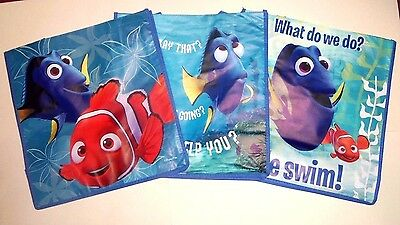 NEW Lot of 3 DISNEY Finding Dory Tote- Bag  free shipping