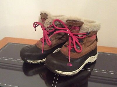 Girls North Face Insulated Waterproof Walking Boots - 12