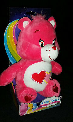 """Care Bears Series 1 - 12"""" Love A Lot Bear In Box -  Soft Toy  Plush - Brand New"""