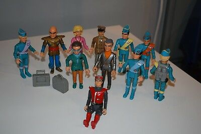 Matchbox Vintage Thunderbirds Character Figures x 10 + Captain Scarlet Figure
