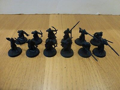 Games Workshop warhammer LOTR plastic Warriors of Harad x 12 undercoated black