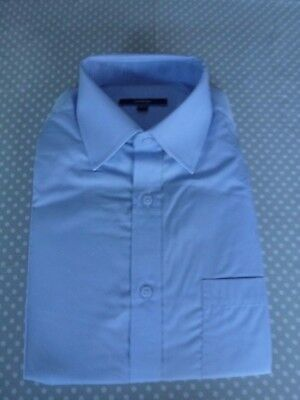 """George Mens Pale Blue Size 14.5"""" Collar Regular Fit Long Sleeve Shirt NEW"""