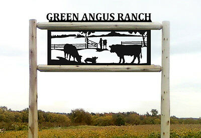Angus Cattle-Cows-Farm Outdoor Signs-Farm And Ranch Decor