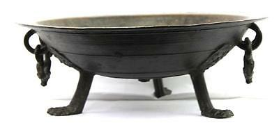 Rare Large Museum Quality German Bronze Tripod Shallow Bowl Circa 1500-50 A+!!!