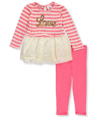 Real Love Little Girls' Toddler 2-Piece Outfit (Sizes 2T - 4T)