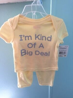 swiggles baby clothes outfit with hat 0/3 MOS I'm kind of a big deal