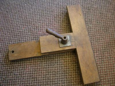 Large Vintage Oak Saw Sharpening Clamp / Vice