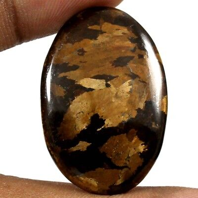 34.60cts Natural Awsome Quality Peter Jade Bronzite Gemstone Oval Loose Cabochon