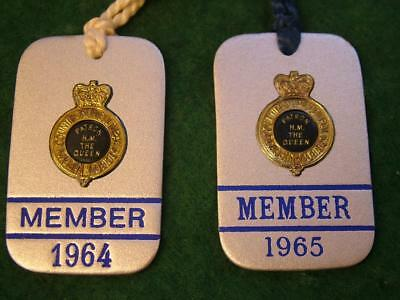 2 x 1960's Royal Counties Agricultural Society Members Badges