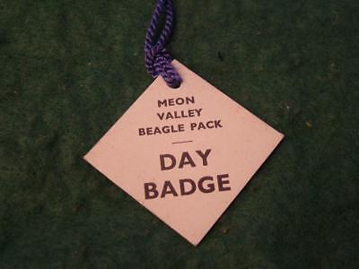 Vintage MEON VALLEY Beagle Pack Day Badge