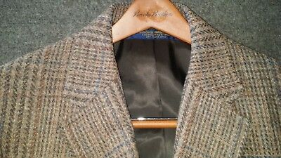 Vintage Brooks Brothers 3/2 btn BROOKSTWEED 38R Pure Wool English hunting plaid
