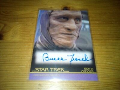 Star Trek Autograph Series Card Of Bruce French Card A 85