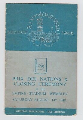 Orig.PRG   XIV.Olympic Games LONDON 1948  -  Closing Ceremony  !!  RARITY