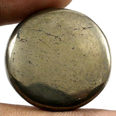 42.30 cts 100% Natural Designer Apache Gold Pyrite Cabochon Round Loose Gemstone