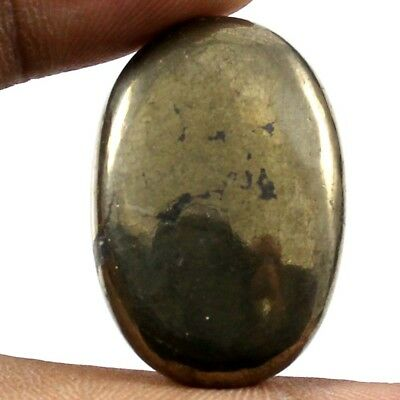53.15 cts 100% Natural Designer Apache Gold Pyrite Cabochon Oval Loose Gemstone