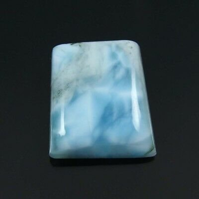 18.65 cts Natural Larimar Fancy Shape Loose Beautiful Gemstone Cabochon Jewelry