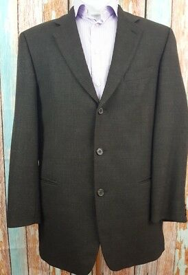 Hugo Boss 42R Wool/Silk 2 Button Single Breasted Black Mens Blazer