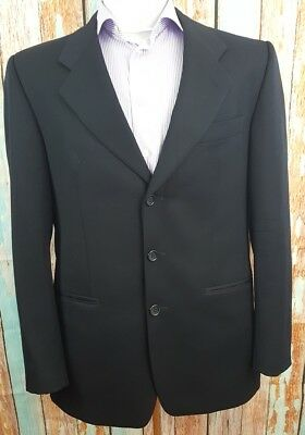 Yves Saint Laurent  size 42R Wool 3 Button Single Breasted Black Mens Blazer