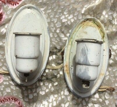 (pair) Vintage Hanging Wall Sconce Light Fixtures