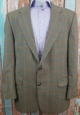 Marks & Spencer Houndstooth Windowpane Size 46R Wool/Lyca Blend 2 Button Blazer