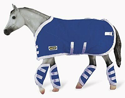 Breyer Traditional Blanket & Shipping Boots Horse Toy Accessory Set, Blue