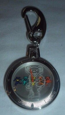 Grateful Dead Pocket Watch Time Piece Dancing Bears & Etched Glass