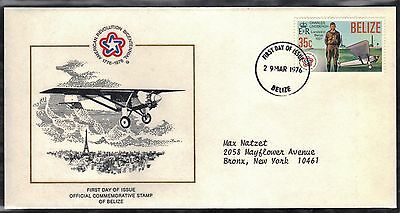Belize 1976 First Day Cover  - American Bicentennial - Lindbergh