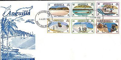 Anguilla 1980 First Day Cover  - Salt Industry On The Island