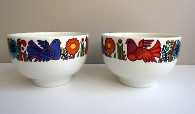 Luxembourg Villeroy & Boch Lot 2 Bols Acapulco Design Mexicain Tbe