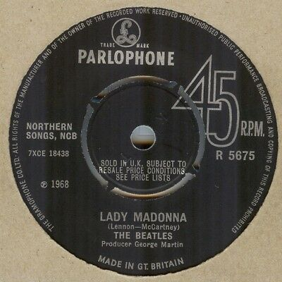The Beatles**lady Madonna**with Insert**listen To It