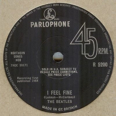The Beatles**i Feel Fine**solid Center**beat**original**listen To It