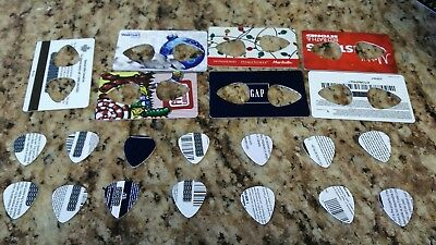14 pcs guitar picks plectrums made from recycled cards