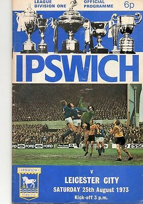 Ipswich Town V Leicester City 1St Division 25/8/1973