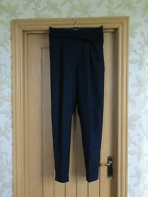"""Millers vintage 80s wool mix striped trousers pleated front high waist 30"""" vgc"""
