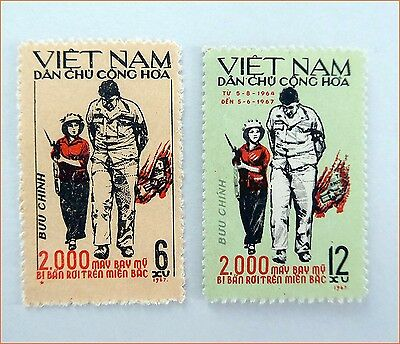 The Famous Photo 2,000 aircrafts were destroyed in North Vietnam 1967 MNH 205
