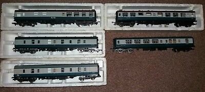 5X 00 Gauge Carriages (2 Hornby 3 Lima) Good Used Conditions